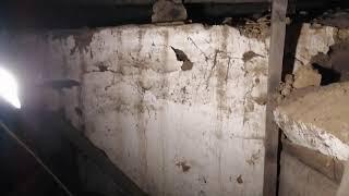 Старое Полысаево полуразрушенный подвал дома на подработке