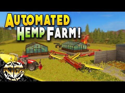 AUTOMATED HEMP FARM : Farming Simulator 17 Gameplay : American Outback EP 7