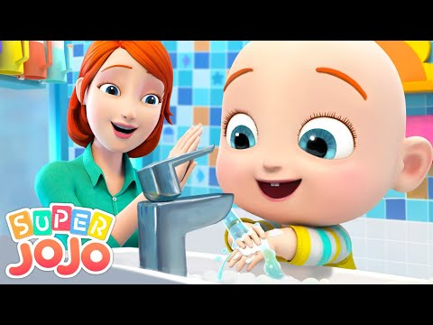 Wash Your Hands Song   Good Habits Song + More Nursery Rhymes & Kids Songs - Super JoJo