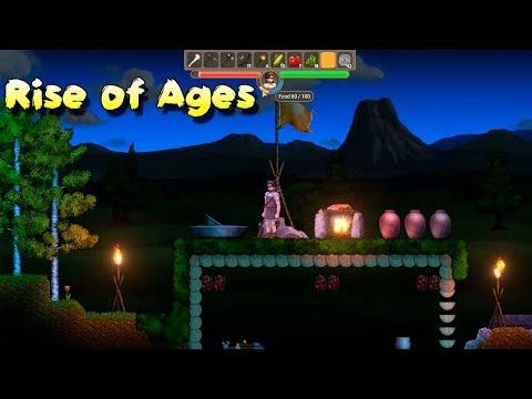 Новая технология Добыча огня! Rise Of Ages прохождение #4 как Орион онлайн 3