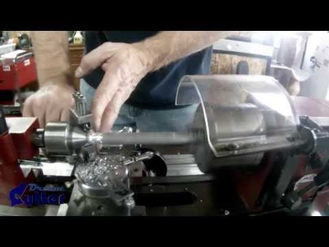 How to Turn a Curvy Metal Pen, Lamp, Pipe, Hookah and Vape tubes with a HF Mini Lathe