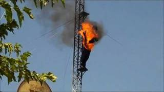 Western water park in Mallorca: fire show