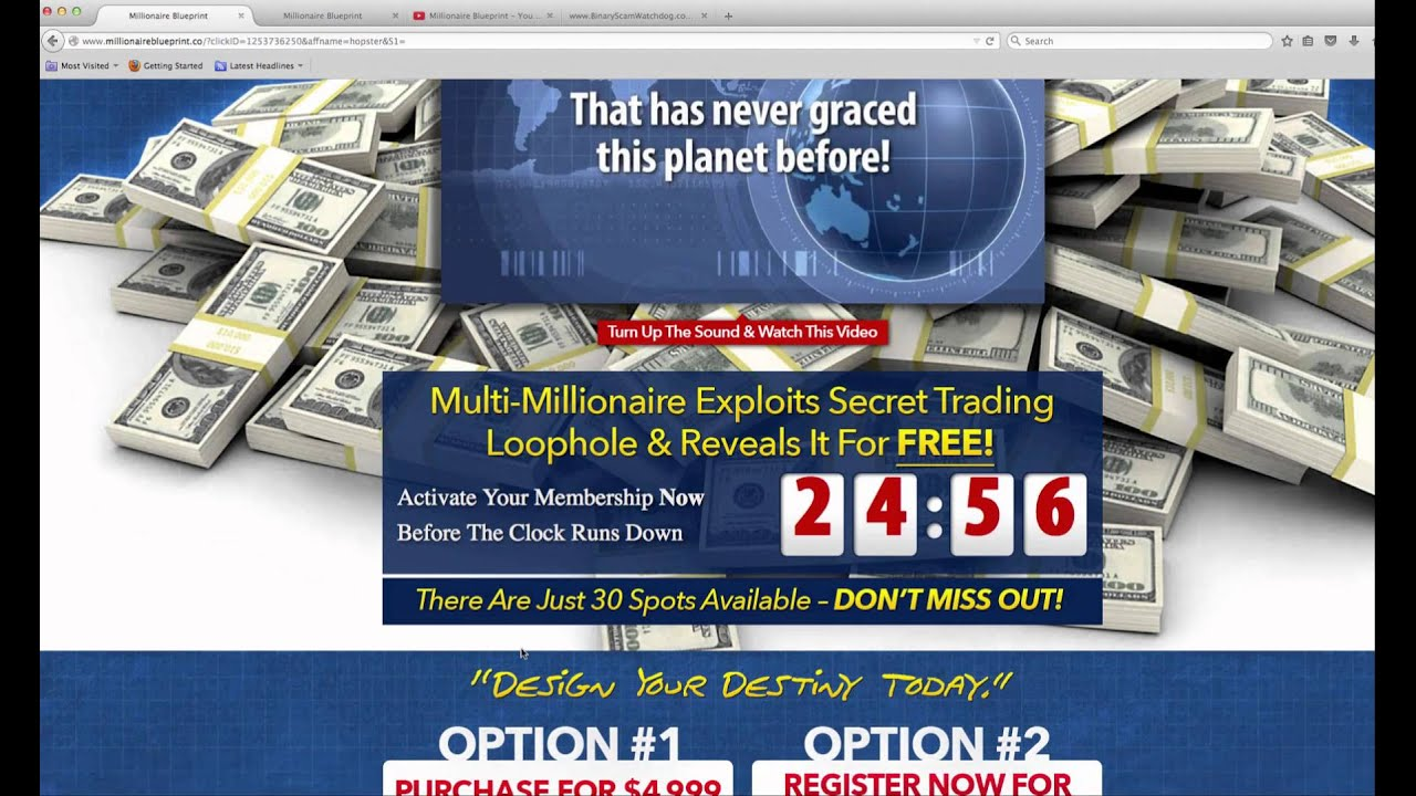 Millionaire blueprint scam exposed youtube millionaire blueprint scam exposed malvernweather Image collections