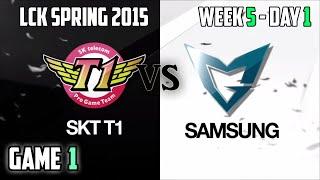 SKT T1 vs Samsung Galaxy - Highlights - Game 1 - LCK Spring - Week 5 Day 1
