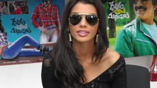 Gabriela Bertante Super Sexy Legs Show At Telugu Movie 'Devudu Chesina Manushulu' Press Meet