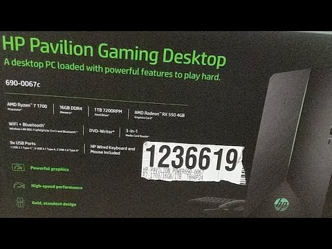 Costco | Hp Pavilion Gaming Desktop ( 690-0067c ) Unboxing |
