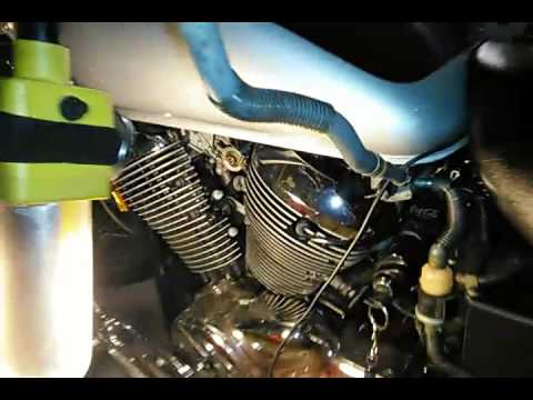 Gravity assisted fuel pump bypass on a 2003 Honda Shadow vt750 - YouTube