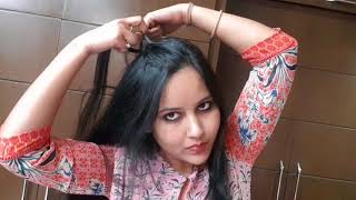 5 different front side hair styles for long hair & open hair / hairstyles for front hair