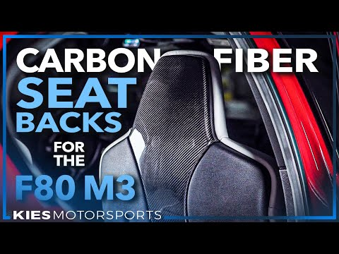 EASY F80 Mod: BMW F80 M3 Carbon Fiber Seat Back Overlay Covers!