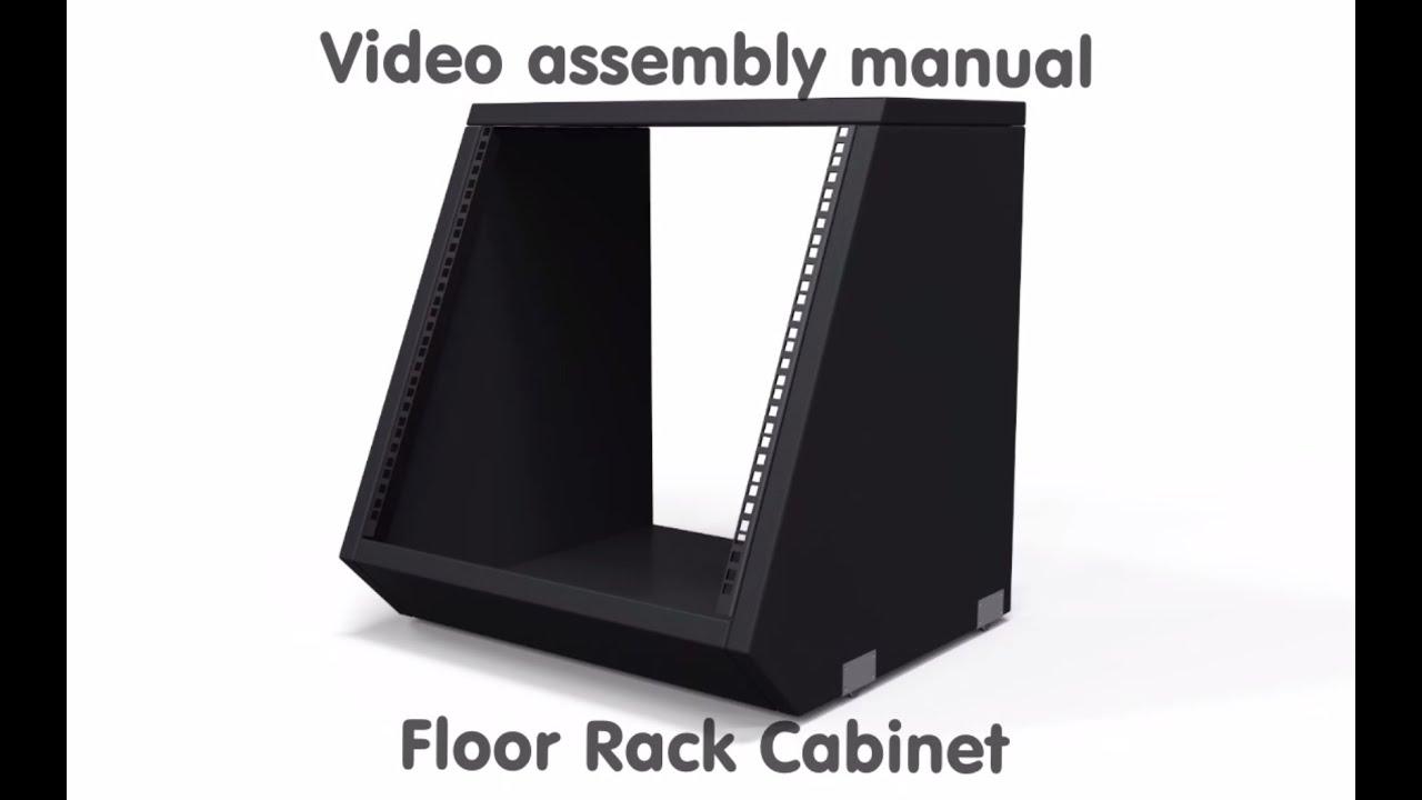 How To Assemble Studio Desk Floor Rack Cabinet   YouTube