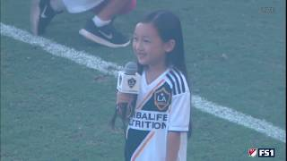 Repost from MLS: 7 Year Old #MaleaEmma Crushes National Anthem Zlatan Approves