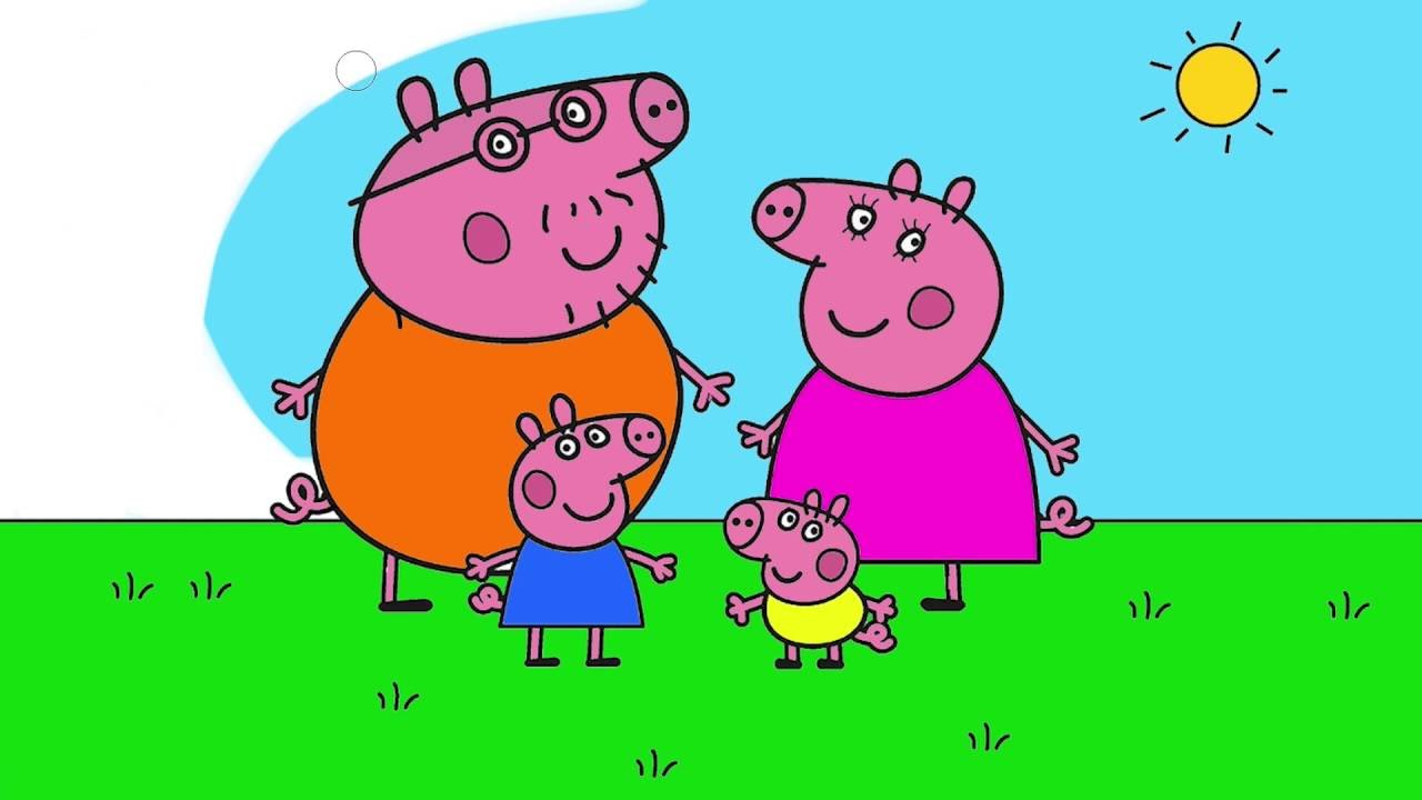 Coloring Book - Peppa Pig Coloring Page 3 - Family   Little Hands ...