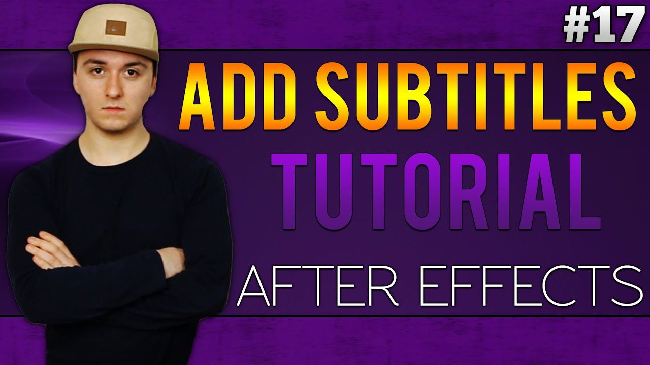 Adobe after effects cc how to add subtitles tutorial 17 youtube ccuart Image collections
