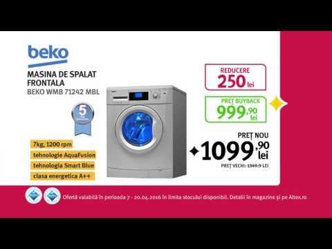 Reclamă ALTEX - Beko Mașină de spălat - Paște 2016
