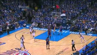 Kevin Durant 25 points nice dunk vs LA Lakers full highlights game 1 semi-finals NBA Playoffs 2012