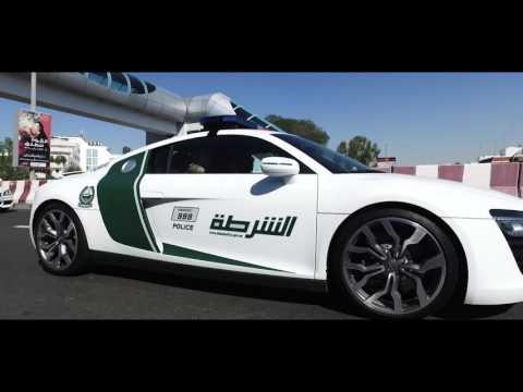 Feliciano Lopez Takes a Spin in Dubai Police Car