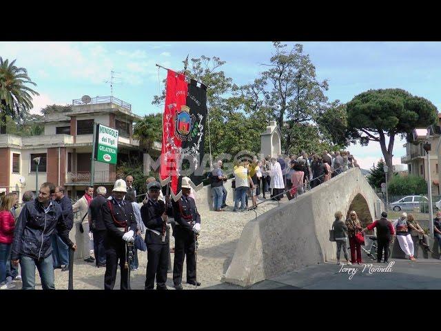 Loano. Inaugurata la statua di San Sebastiano e l'omonimo ponte: video #2