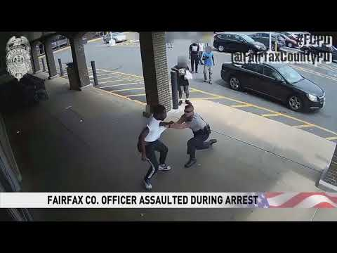 Man attacks Fairfax County Police officer during arrest