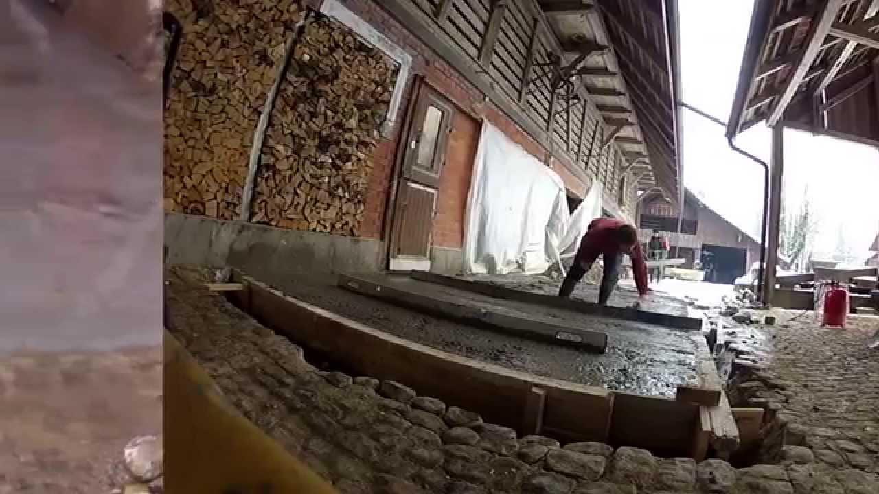 Neuer Beton Boden Fertig Youtube