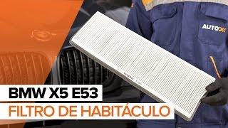 Cómo cambiar Filtro de aire acondicionado BMW X5 (E53) - vídeo gratis en línea