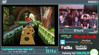 Awesome Games Done Quick 2015 - Part 147 - Crash Bandicoot 2: Cortex Strikes Back by Roach788