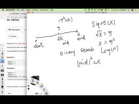LeetCode Tutorial 69. Sqrt(x)