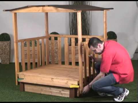 gaspo spielhaus mit sandkasten aufbau gaspo youtube