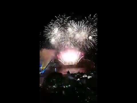 NOV 11 2017 Kuching The Waterfront Hotel (烟花 firework)