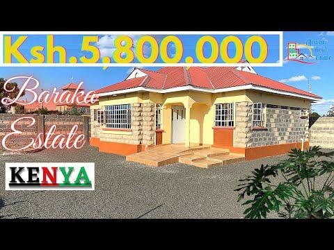 Inside a Ksh 5,800,000 ($58,000) BUNGALOW IN BARAKA ESTATE -Kitengela Kenya- Affordable