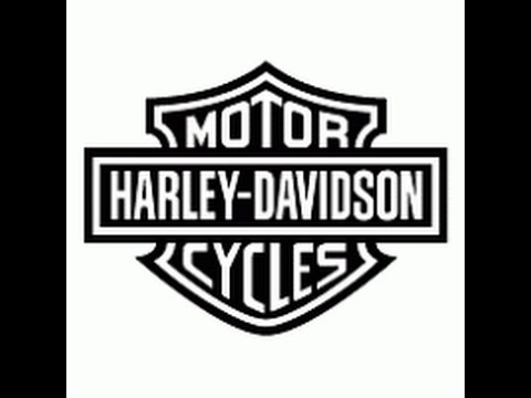 how to draw harley davidson logo step by step