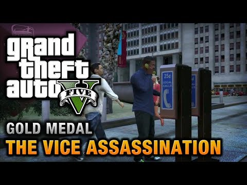 GTA 5 - Mission #42 - The Vice Assassination [100% Gold Medal Walkthrough]