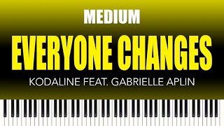 Kodaline feat. Gabrielle Aplin – Everyone Changes – MEDIUM Piano Tutorial from The Piano Lounge