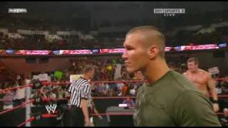 Triple H returns on Raw and destroy Randy Orton part1