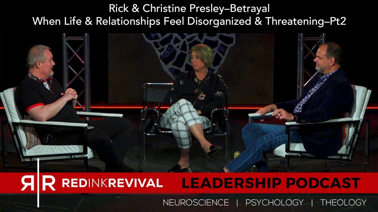 71. Rick & Christine Presley–Betrayal: When Life & Relationships Feel Disorganized & Threatening-Pt2