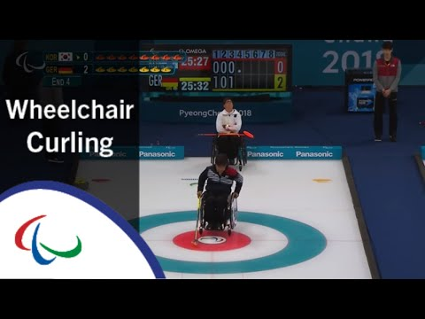 Wheelchair curling: Korea v Germany | Round Robin | PyeongC…