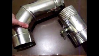 Колено и клапан - заслонка.(Детали предназначенные для подключения банной топки из нержавеющей стали AISI 304 выполнены по размерам заказ..., 2016-01-05T18:07:29.000Z)
