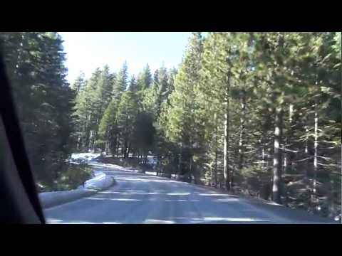 Sierra Nevada Video I80 Interstate Open Road trip Slow but Pretty Mountains & Views