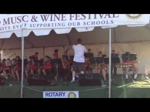 Stone Valley Middle School Jazz Band performs at #AlamoMusicFest @AlamoRotary #music fundraiser @SRV