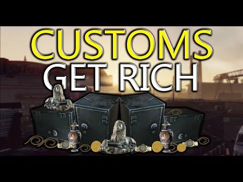 7 Safes!? Get Rich - Customs Safe & Key run - Escape From Tarkov