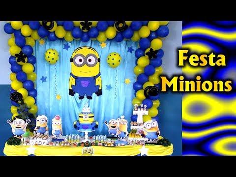 Party Decoration Theme Minions - Children's Birthday - Fiesta / Party Kids / Ideas