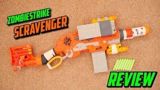 Nerf Zombie Strike Scravenger Unboxing, Review & Range Test