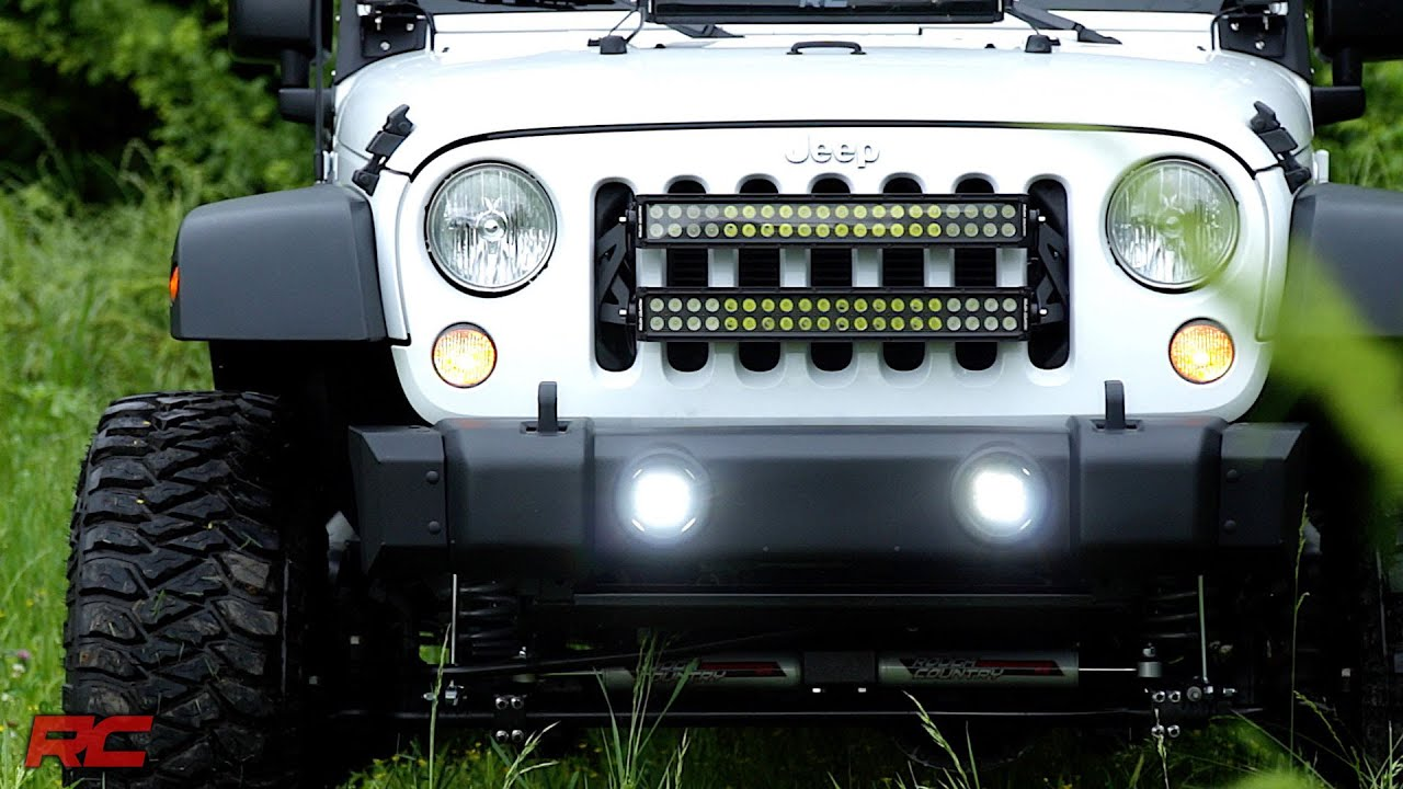 installing 2007 2017 jeep wrangler jk square 2 inch led light cube rh youtube com install led light bar jeep jk wiring led light bar jeep jk