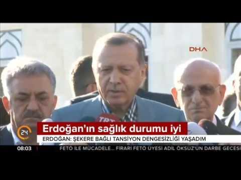 Erdoğan:Tansiyon dengesizliği yaşadım