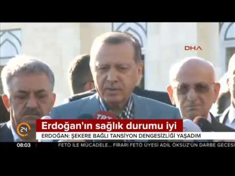 Erdoğan Tansiyon dengesizliği yaşadım