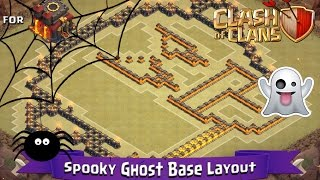 Clash Of Clans: TH10 | Fun Base Layout (275 Walls) - Spooky Ghost