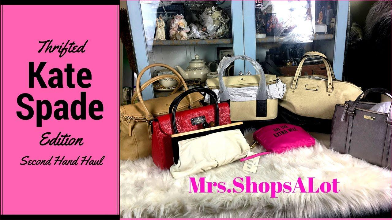 26a005a0f07a Kate Spade Second hand Handbag thrift Haul - YouTube