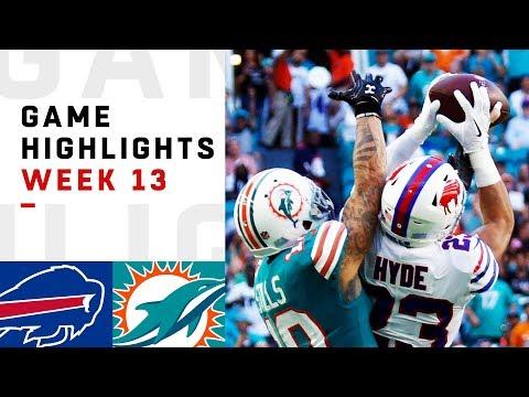 Bills vs. Dolphins Week 13 Highlights | NFL 2018