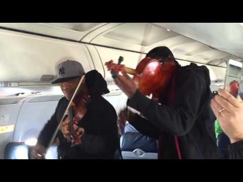 Surprise In-Flight Performance on US Airways by Black Violin