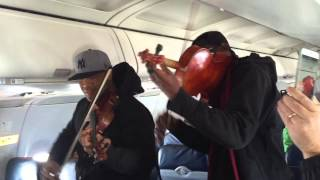 Surprise In-Flight Performance on US Airways by Black Violin