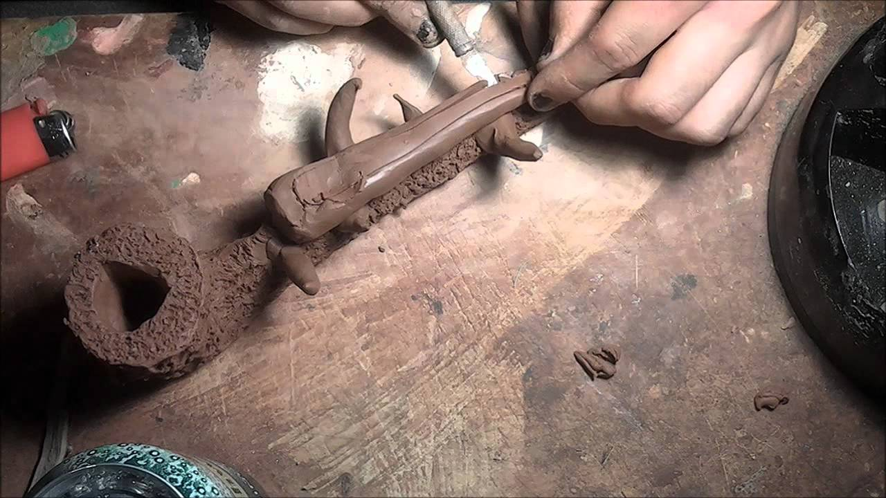 How To Make A Clay Pipe Youtube